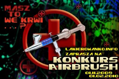 """Logo konkursu airbrush """"Masz to we krwi"""""""